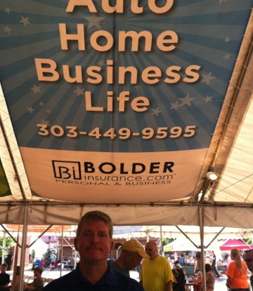 Check out the Bolder Insurance Banner, Appropriately located in the Beer Tent!