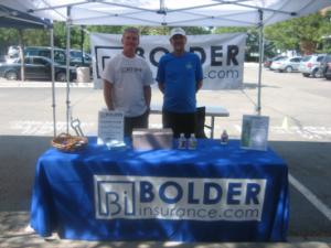 Brent Friesth & Benji Durden at the Bolder Insurance Booth